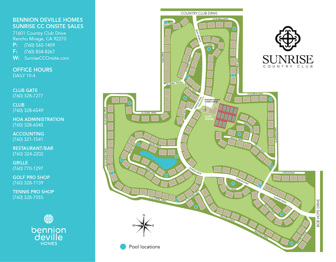 Sunrise Country Club Onsite Sales Map