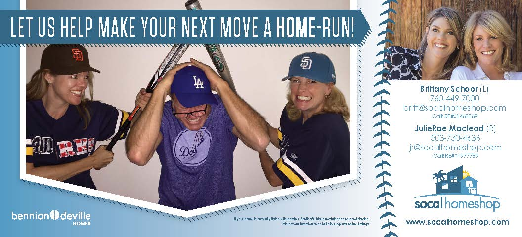 Socalhomeshop real estate baseball mailer
