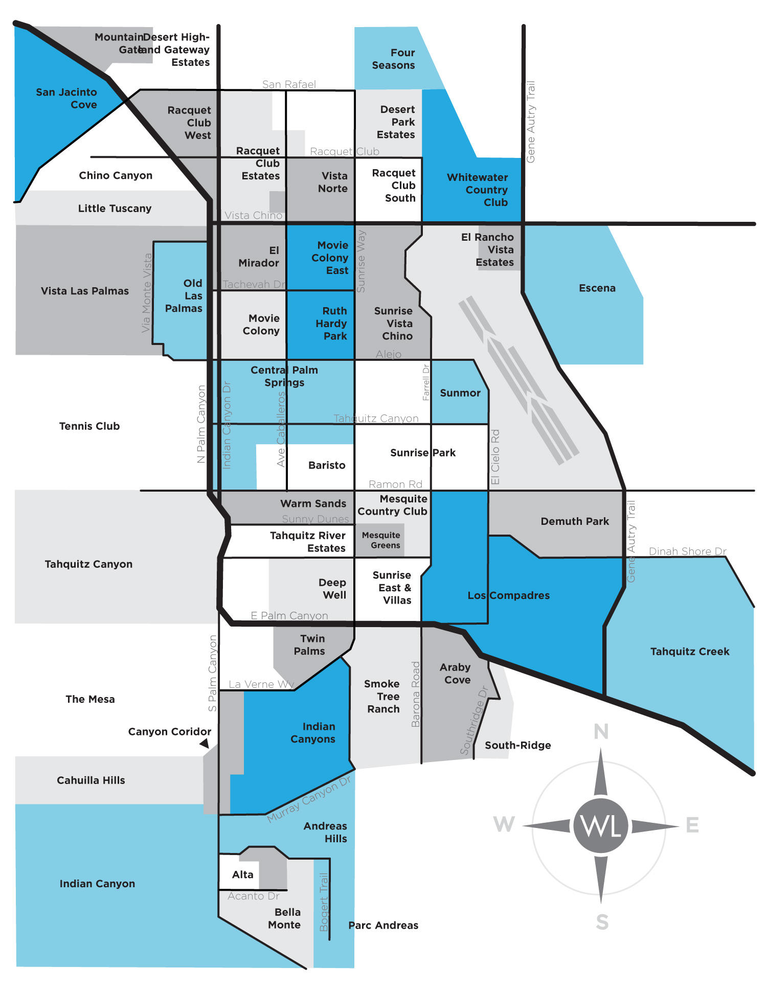 William Landesman Neighborhood Map