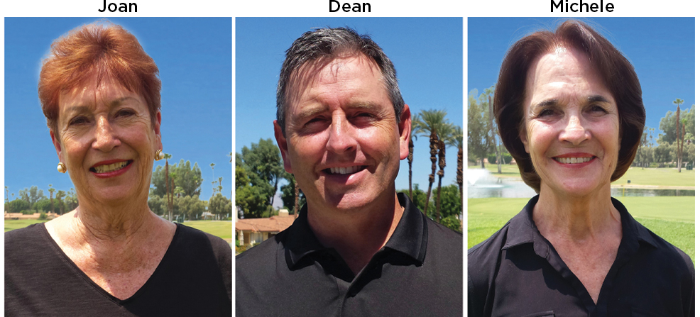 Monterey Country Club Sales Team- Joan, Dean, and Michele