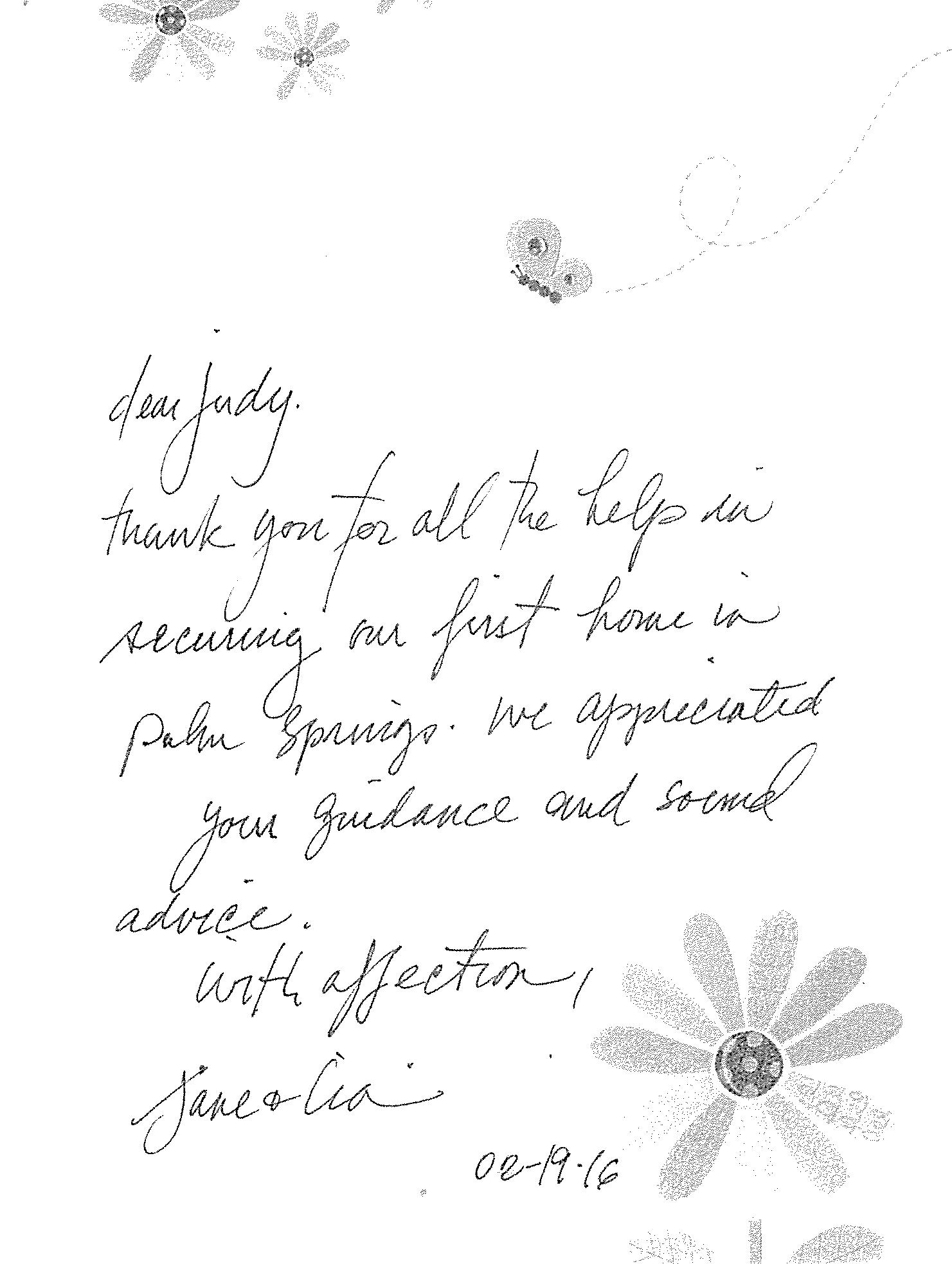 Judy Koubek Realtor - Testimonial