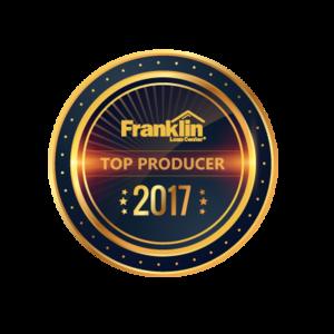 Franklin Loan Center Top Producer Award 2017