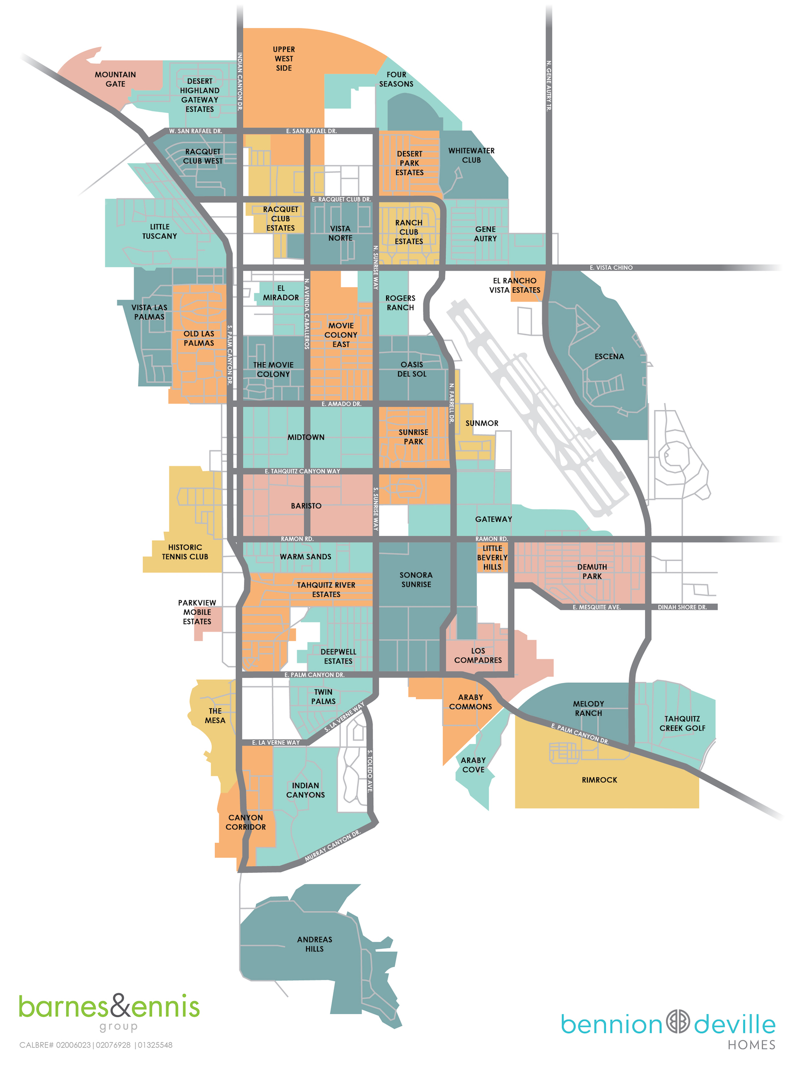 Map of Palm Springs Neighborhoods