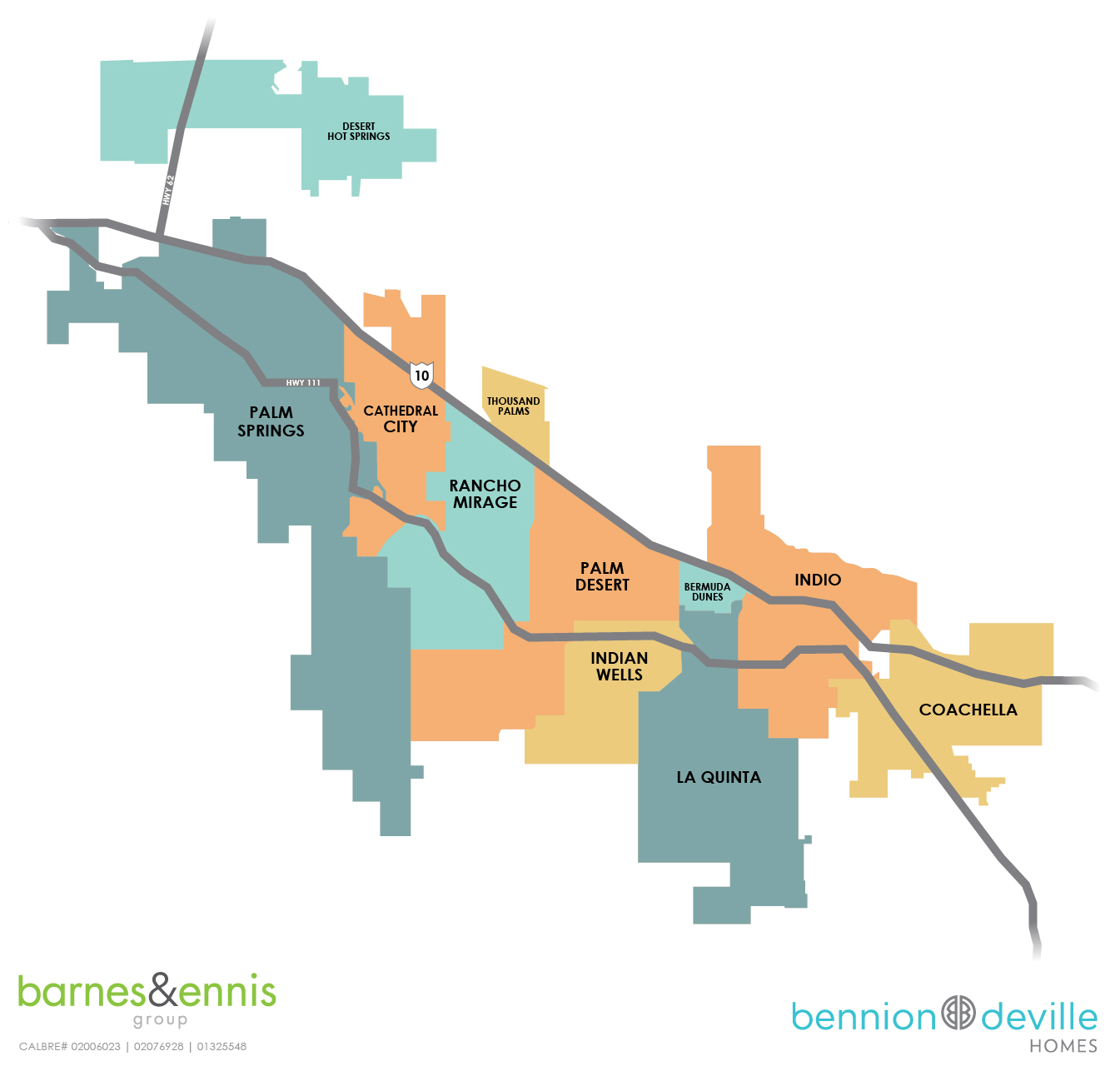 Coachella Valley Cities Map